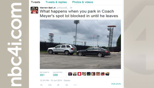 Don't Park In Coach Meyer's Parking Spot (Image 1)_9413
