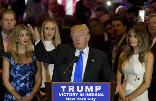 Donald Trump, Melania Trump, Ivanka Trump, Eric Trump_120325