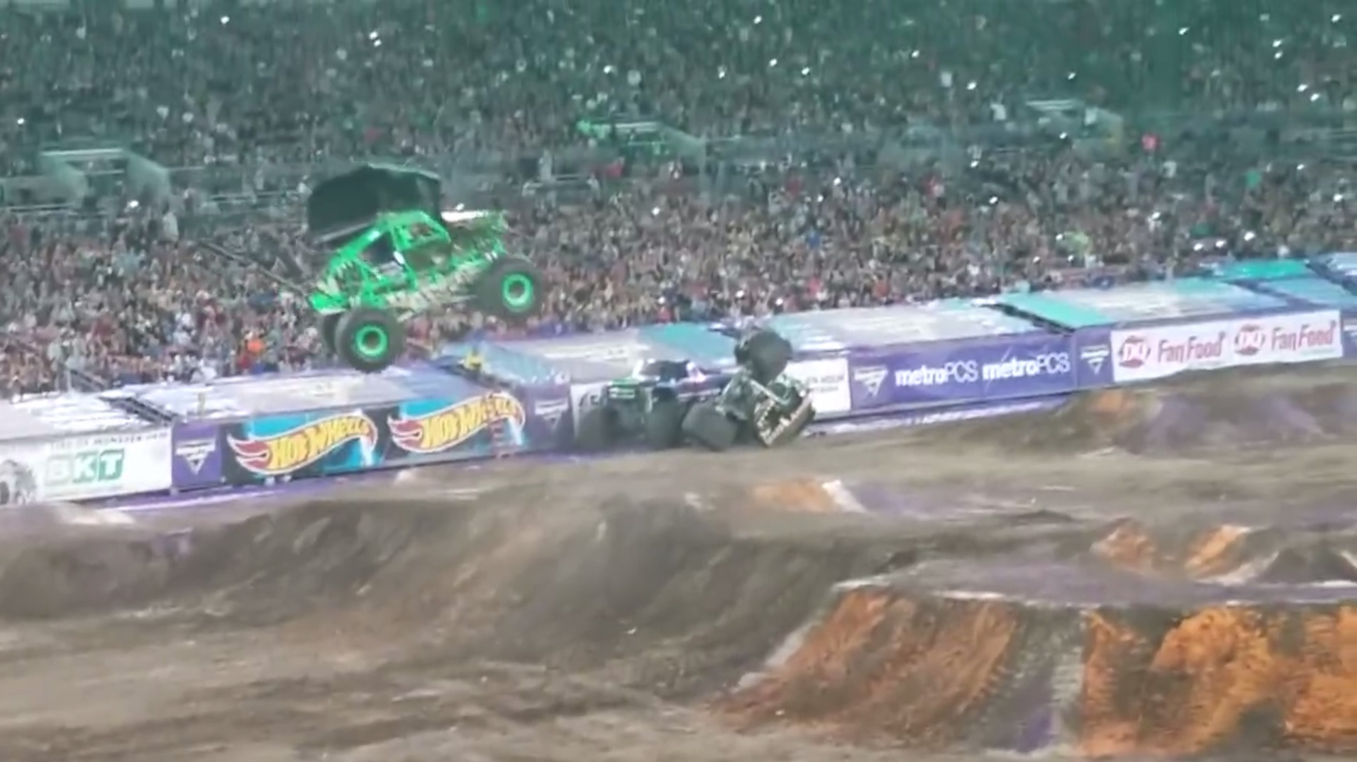 Video Shows Grave Digger Injury Incident At Monster Jam