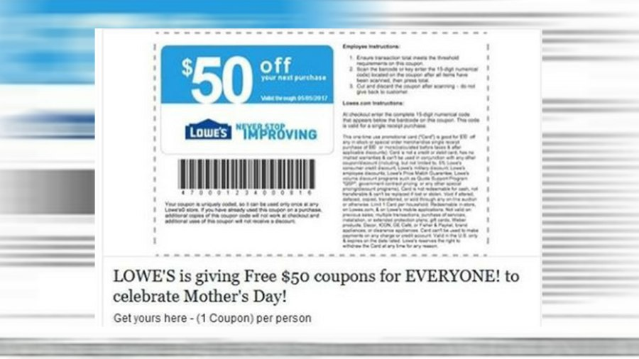 If you receive this Lowe's Home Improvement Mother's Day coupon don