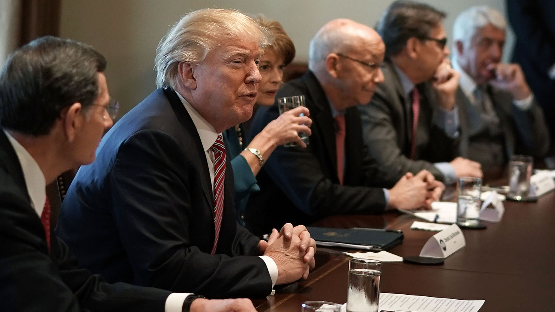 President Trump Meets With Congressional Lawmakers To Discuss His Infrastructure Plan_392220