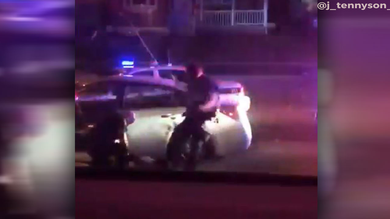 Franklin Township officer on leave after video shows suspect