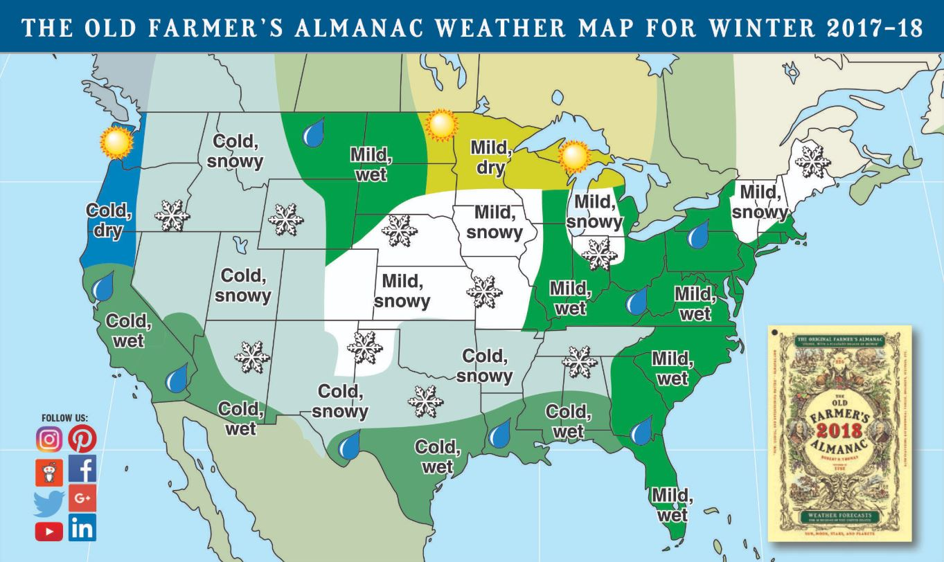 Farmer's Almanac predicts 'biting cold, snowy' winter