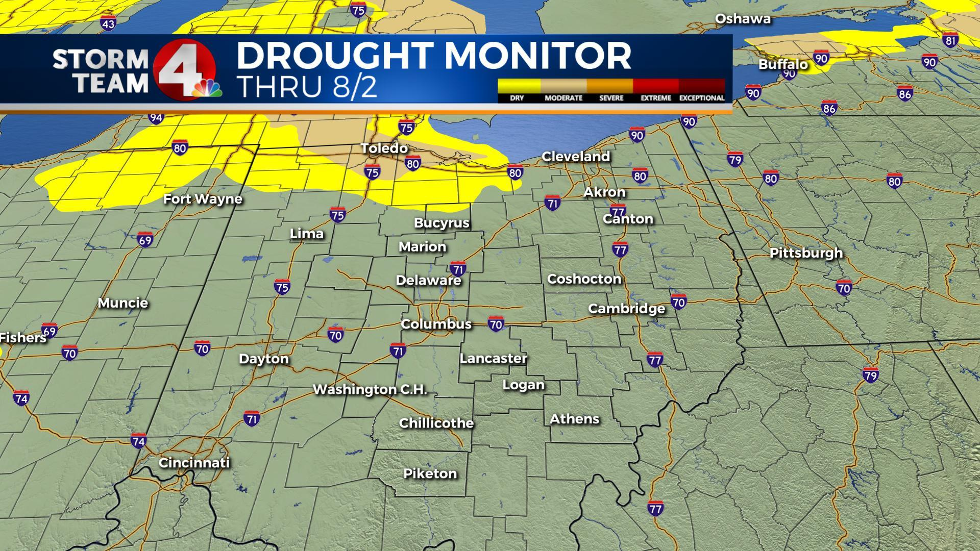 Drought conditions in the state