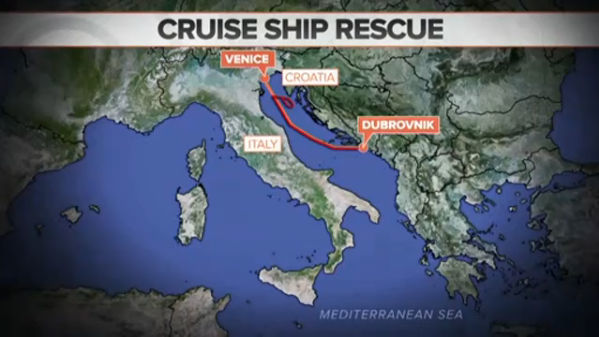 A British woman was rescued after falling from a cruise ship and spending 10 hours in the Adriatic Sea at night. NBC's Bill Neely reports.