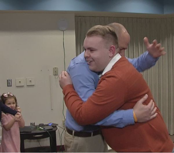 Bone marrow recipient meets donor for the first time
