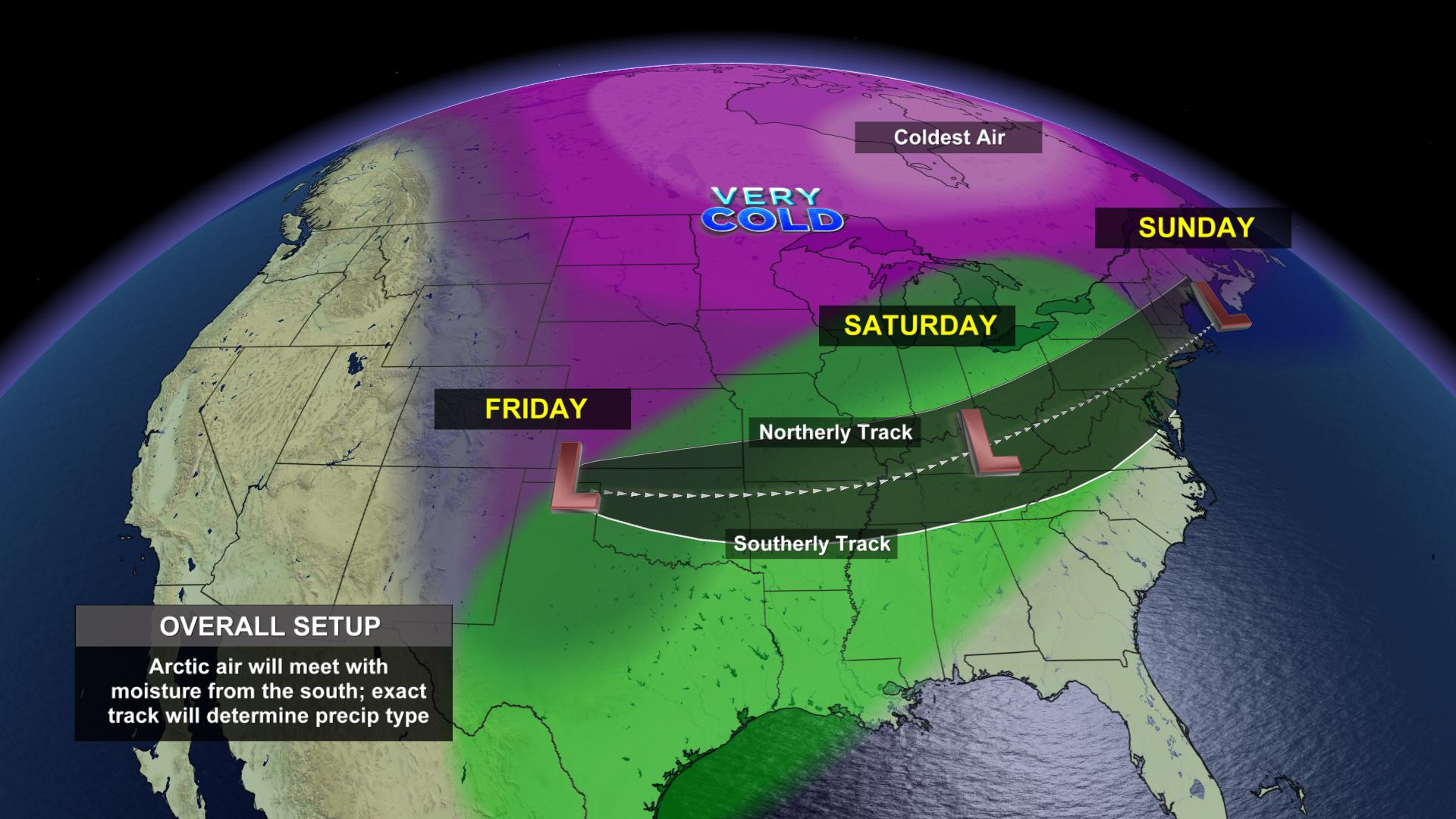 Big weekend winter weather maker heading our way