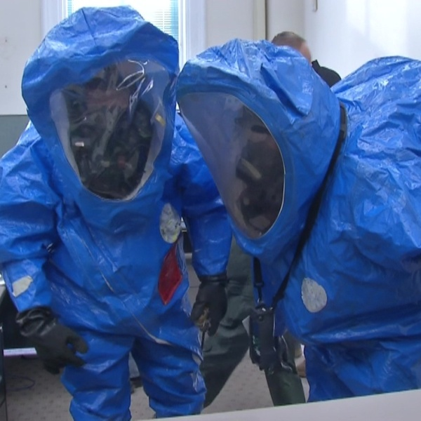 Hazmat drill takes over old Delaware County Courthouse