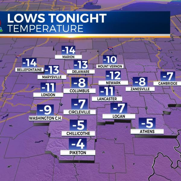 Record cold temps expected tonight