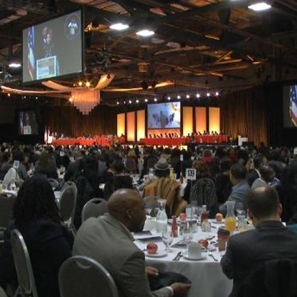 Thousands gather for MLK birthday breakfast