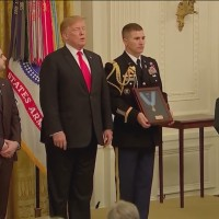 Iraq war hero, civilian who stopped machete attack receive medals of honor