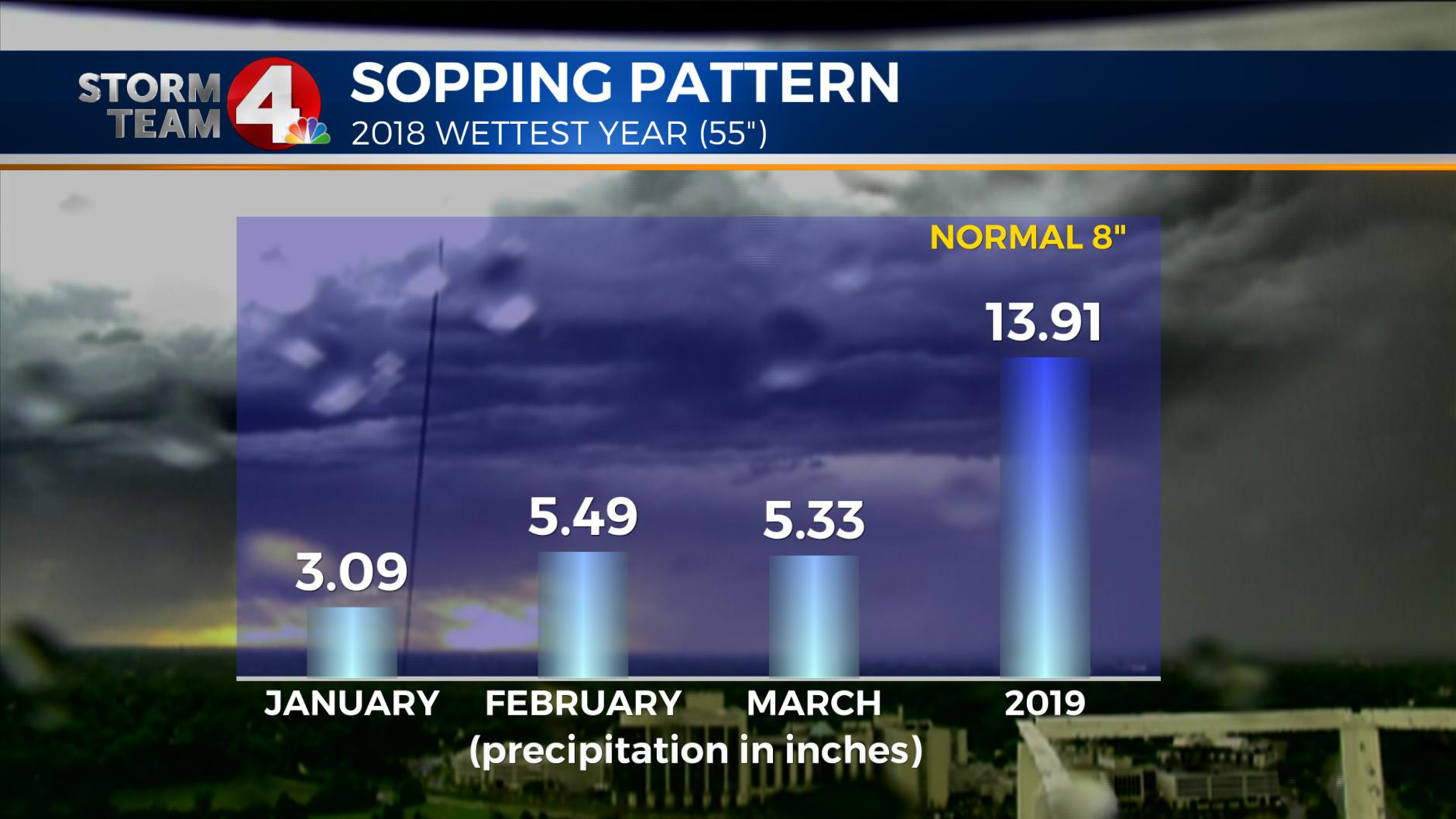 Soggy start to 2019 after record wet year
