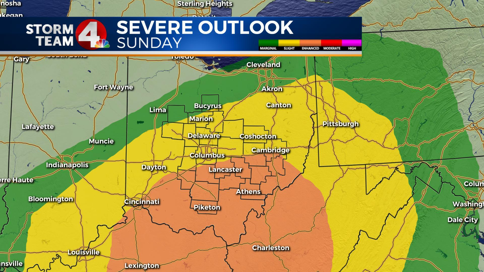 Gusty winds possible to close the weekend