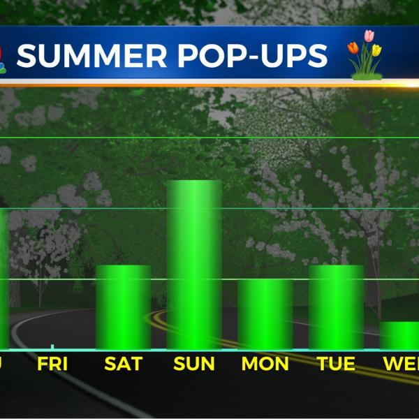 "A ""fronty"" forecast means several chances of storms this holiday weekend"