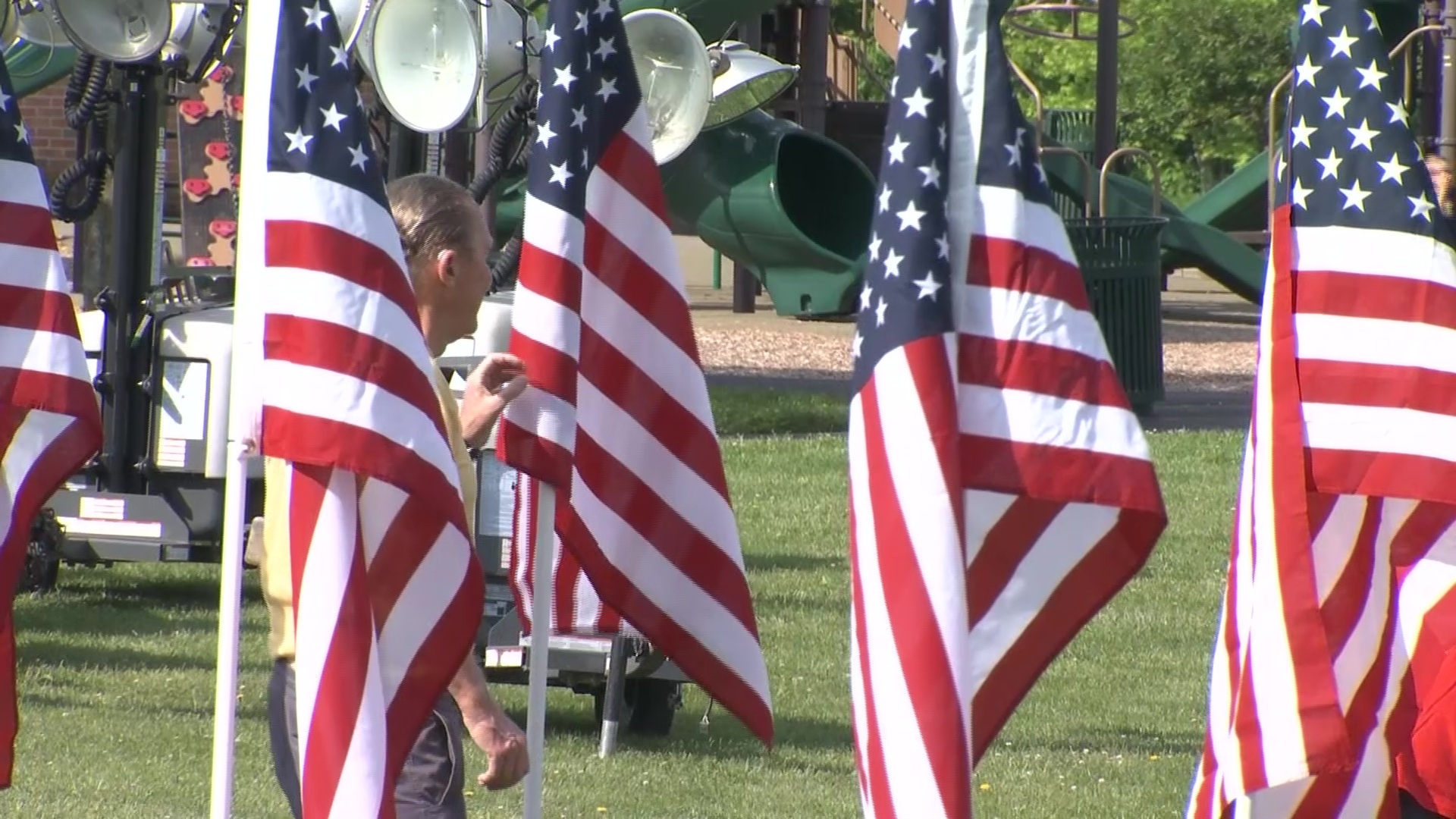 Thousands of flags honor those who served at Westerville