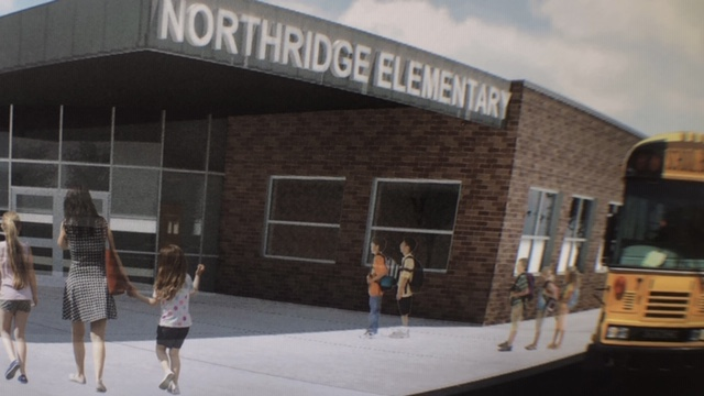 Northridge Elementary exterior drawing