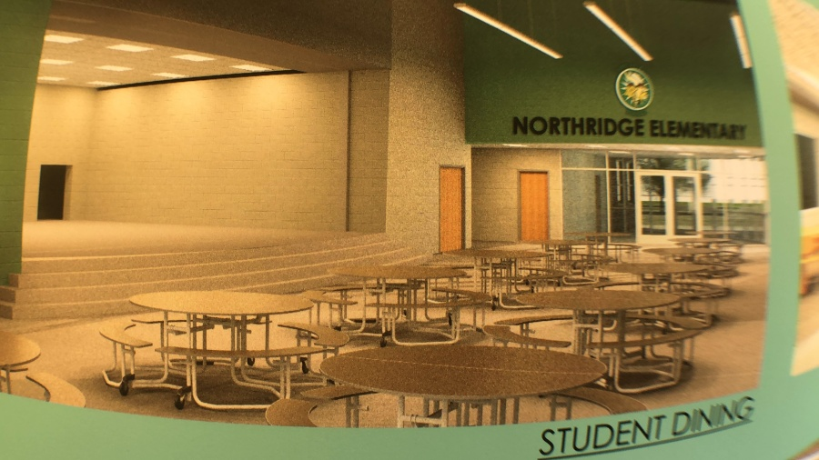 Northridge elementary dining rendering