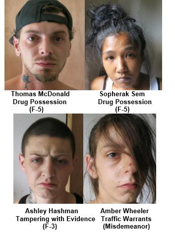Whitehall police make 5 arrests, seize drugs and gun during