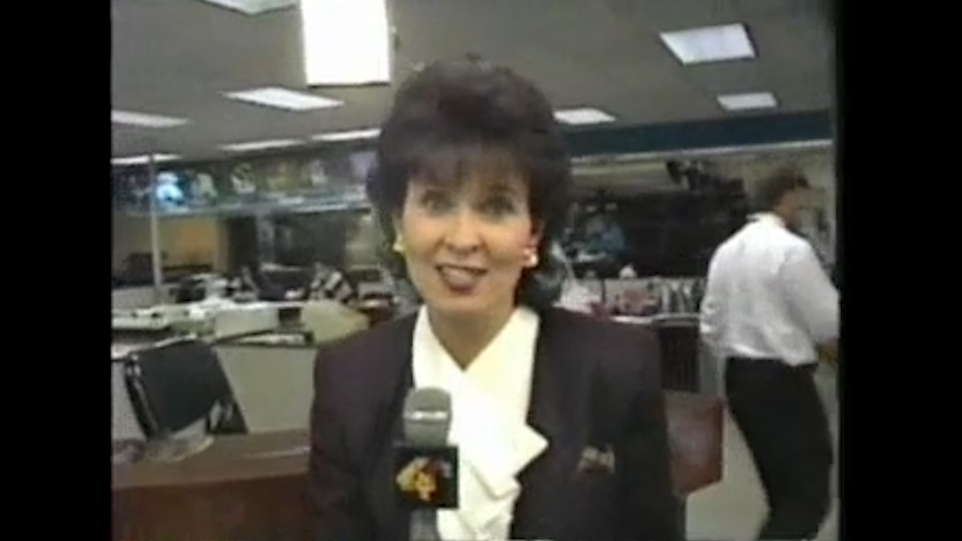 Colleen in the NBC4 newsroom