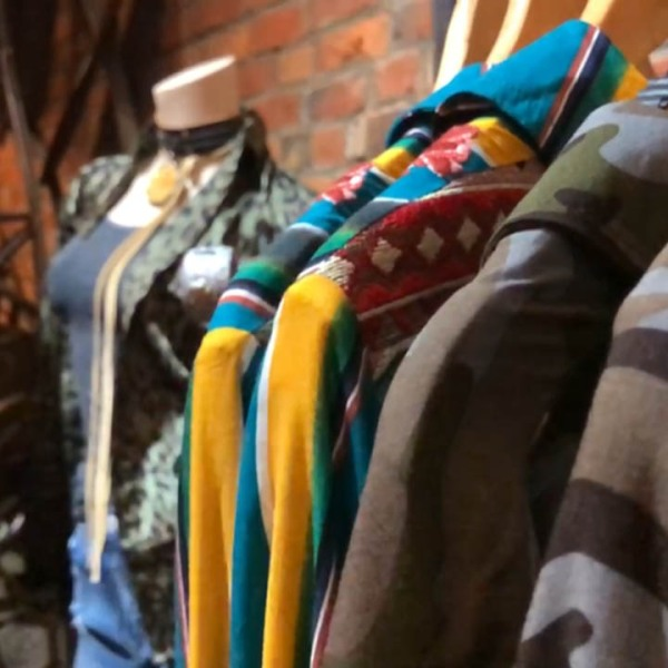Clothing sold at the Chunky Armadillo boutique clothier in the Short North.