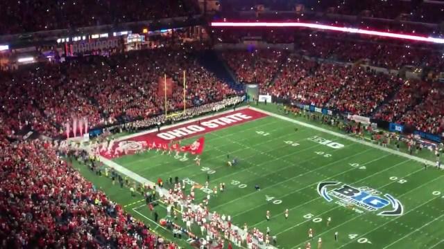 Ohio State fans own Lucas Oil Stadium