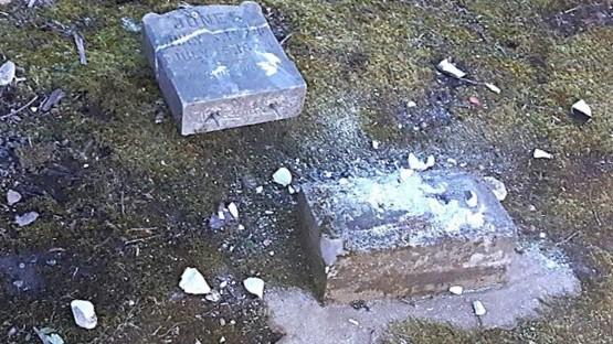 Vandalized Cemetery