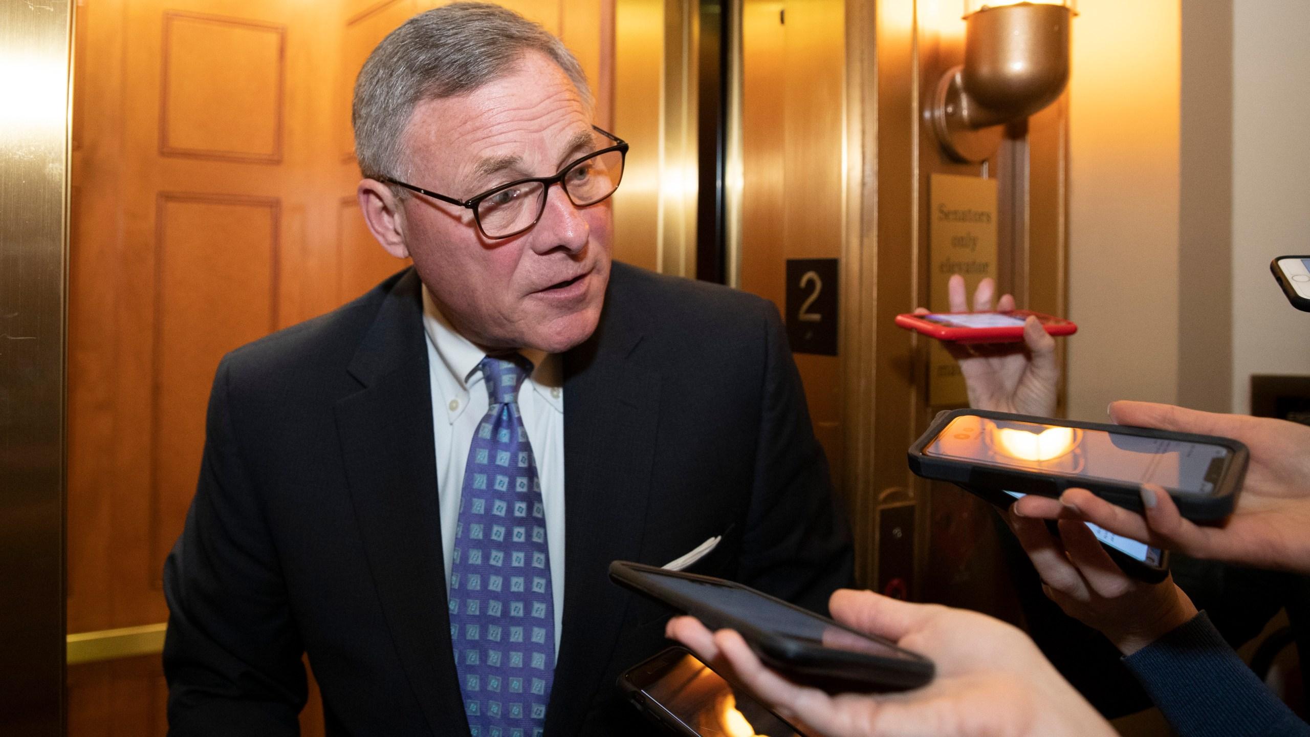 Sen. Richard Burr, R-N.C., speaks with reporters on Capitol Hill in February.. (AP Photo/Alex Brandon)