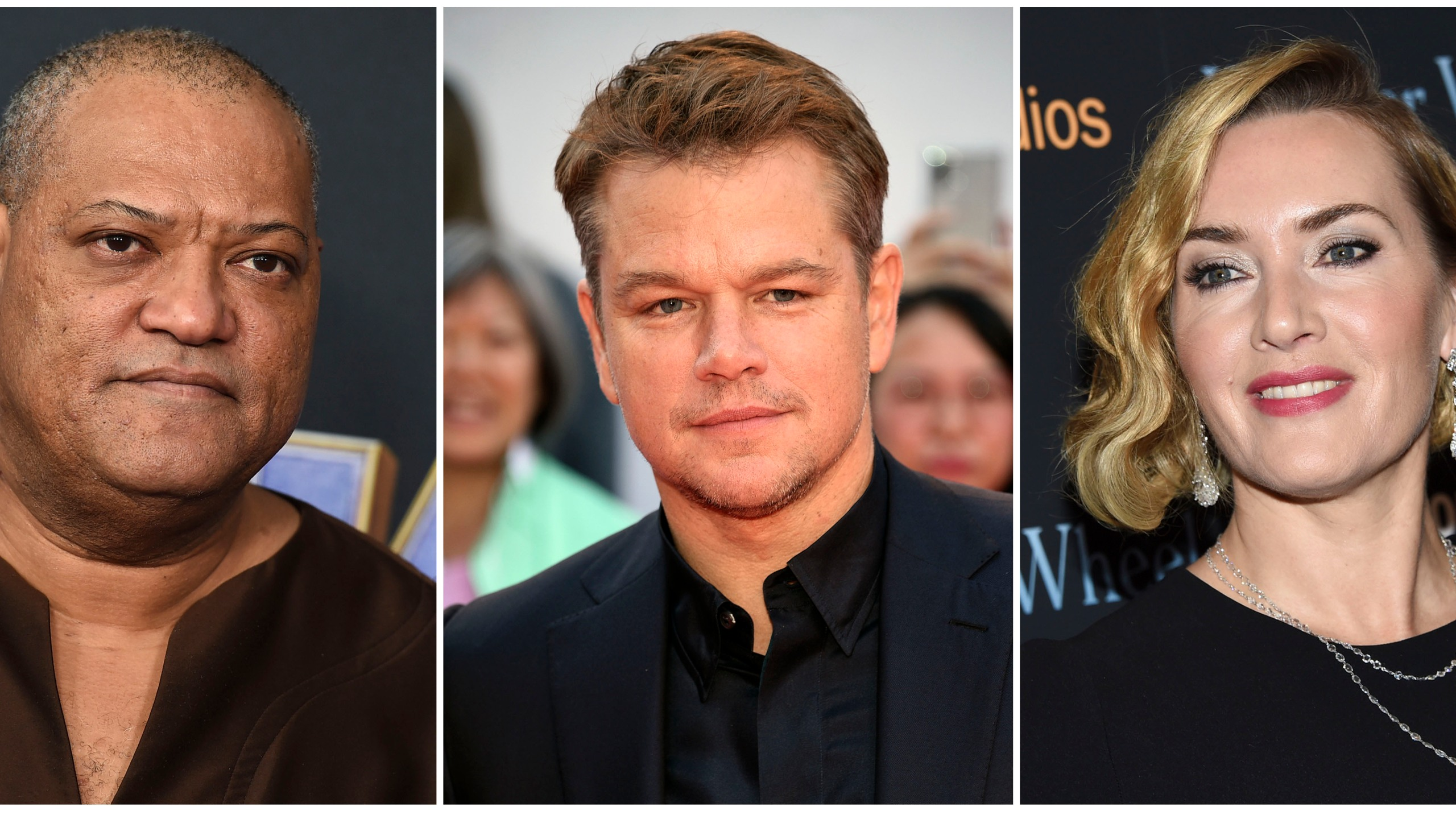"""Laurence Fishburne, Matt Damon and Kate Winslet, who are among the stars of the 2011 thriller """"Contagion"""" have reunited for a series of public service announcements to warn about COVID-19. They have teamed up with scientists from Columbia University's Mailman School of Public Health to offer four individual homemade videos. (AP Photo)"""