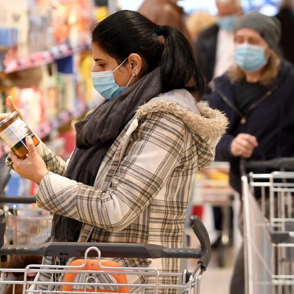 Grocery shopping, coronavirus