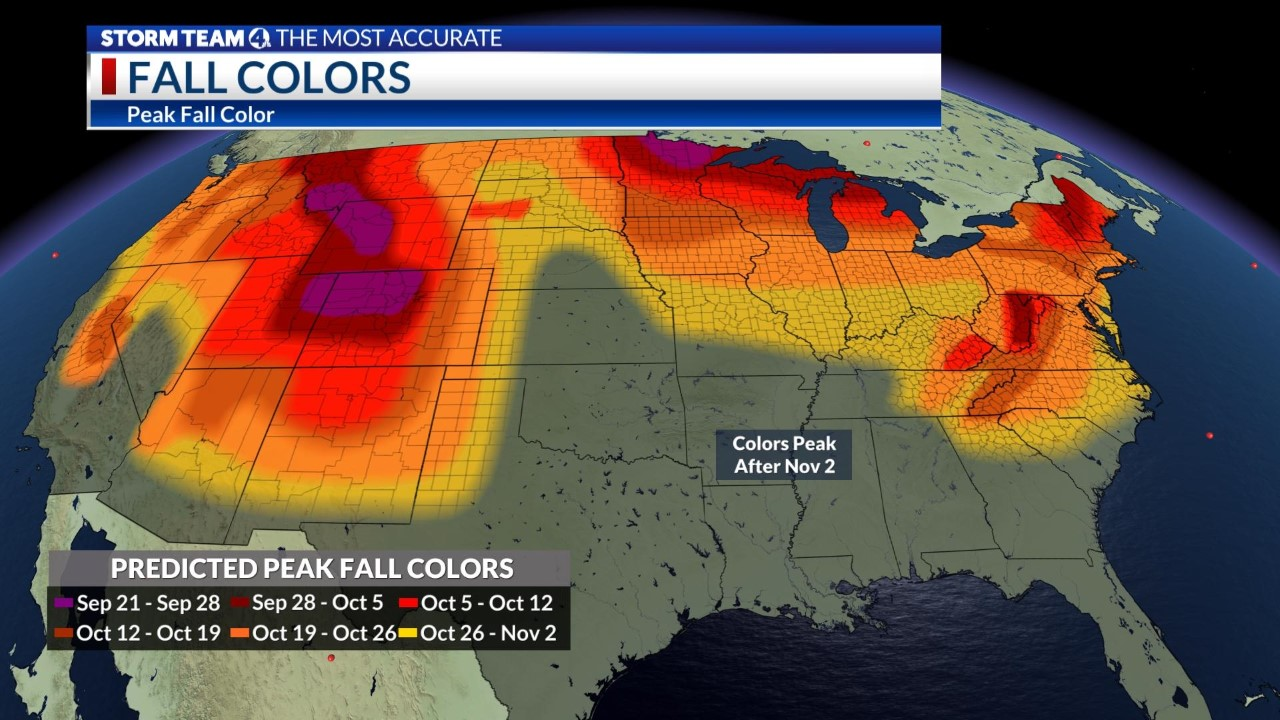When To Expect Peak Colors 2020 Fall Foliage Outlook Nbc4 Wcmh Tv