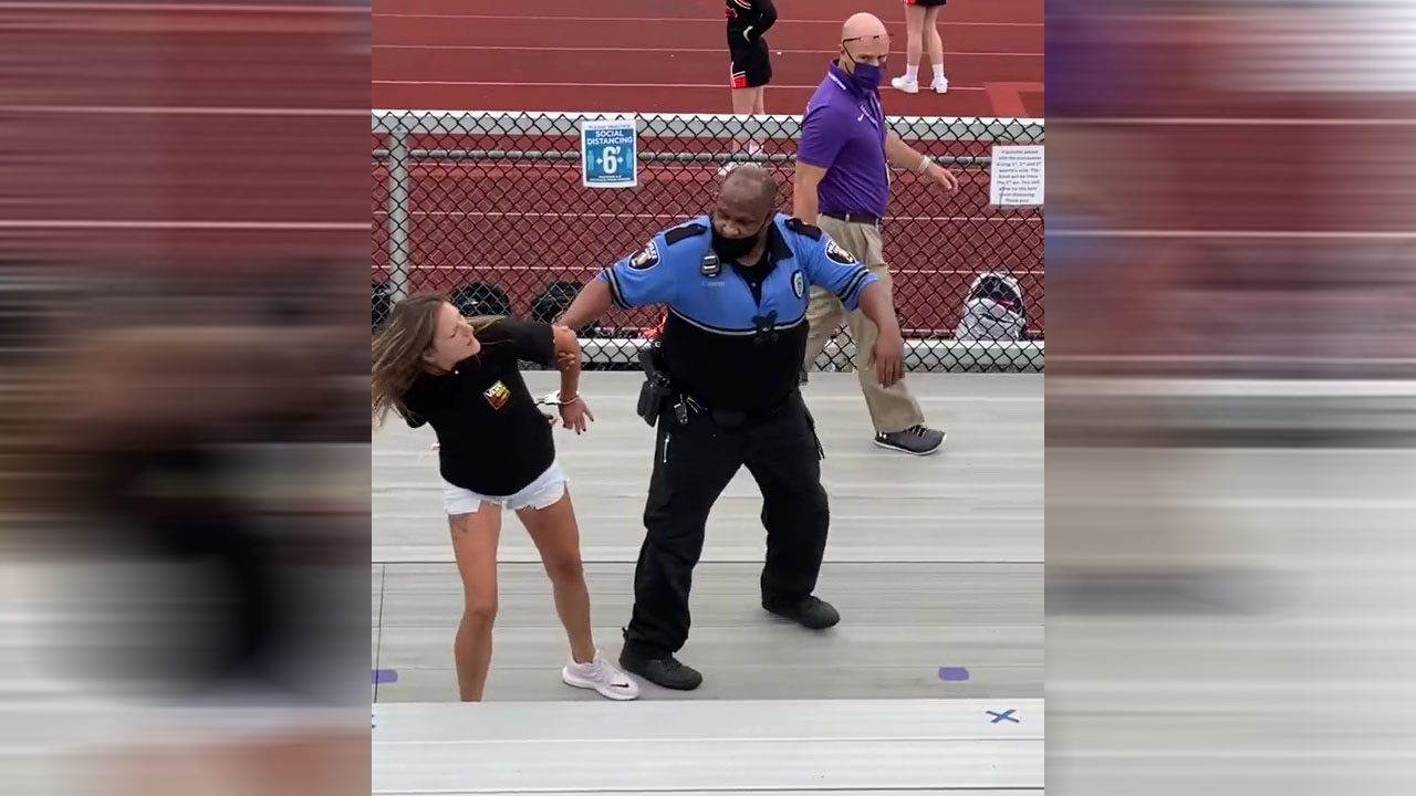 Confrontation over mask at Ohio middle school football game leads to Taser being used on woman