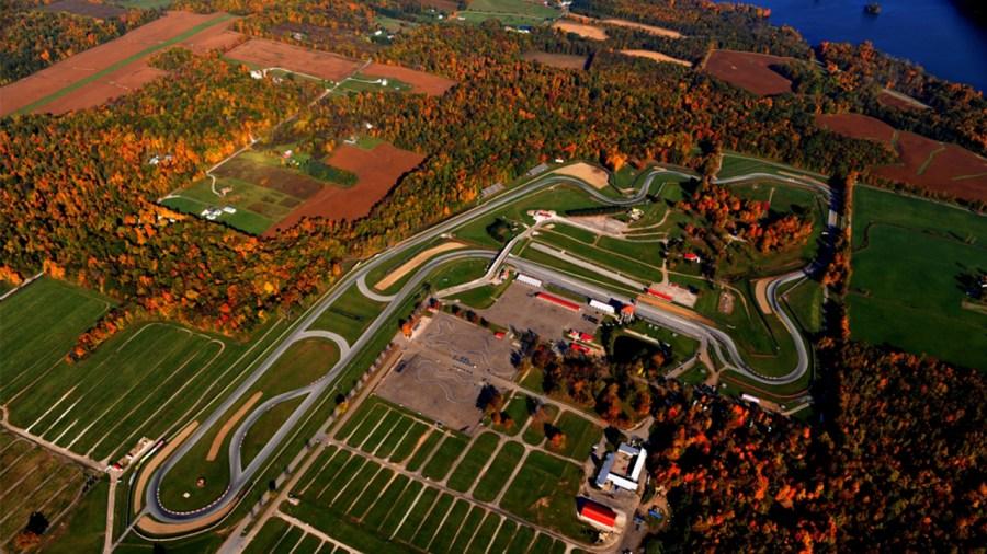 Mid-Ohio track autumn fall