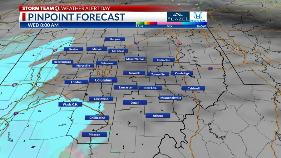 How Much Snow Is Coming To Columbus Ohio Winter Weather Coming Wednesday Nbc4 Wcmh Tv