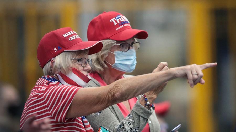 Trump supporters rally August coronavirus Clyde Ohio