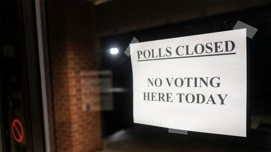 polls closed Ohio March 2020 election coronavirus