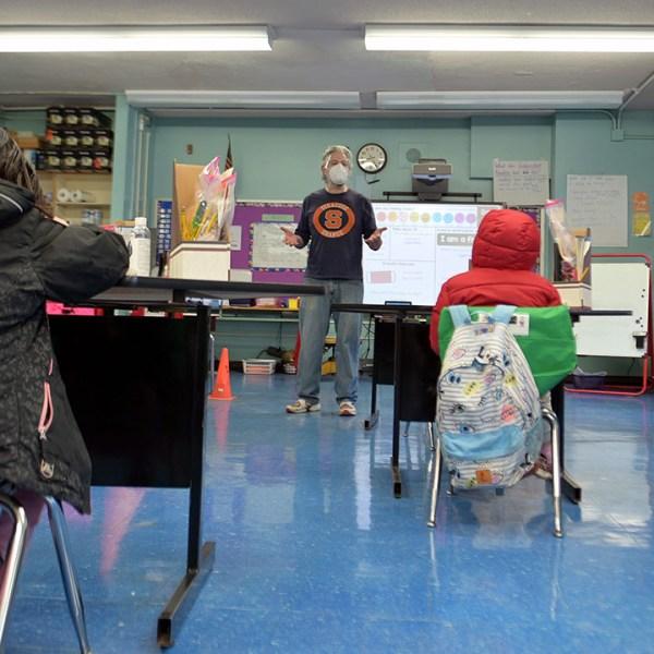 NYC elementary classroom covid