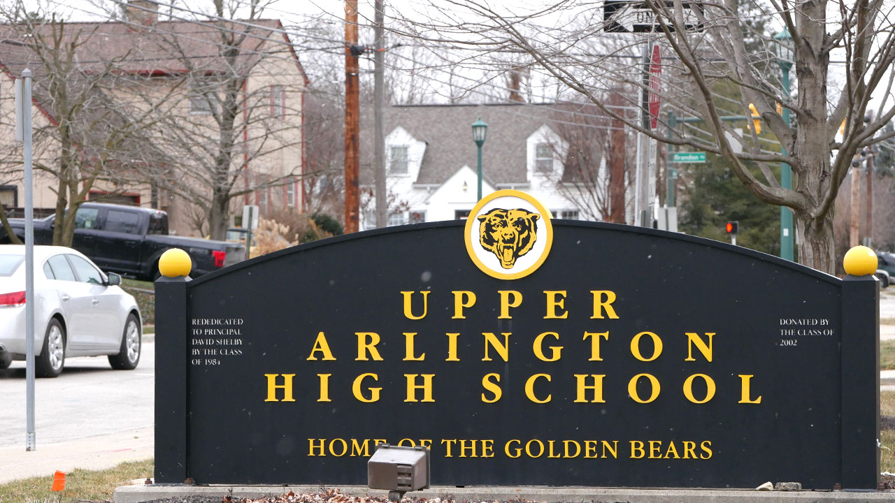Upper Arlington High School sign