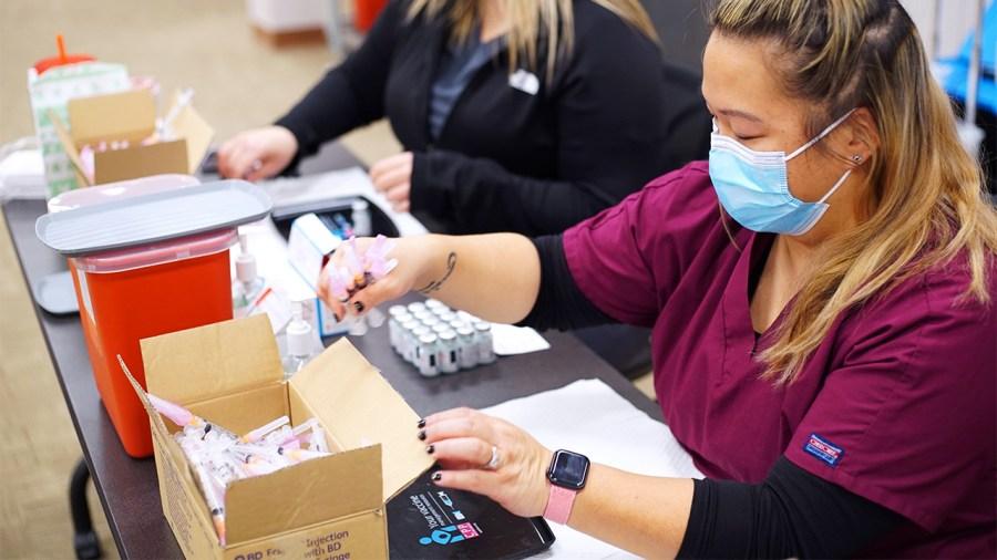 Franklin County covid vaccine nurses syringes