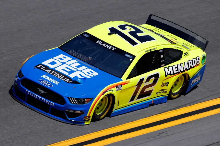 Ryan Blaney 2021 Daytona 500 practice