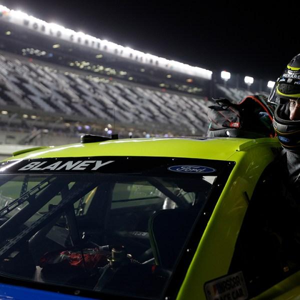 Ryan Blaney 2021 Daytona 500 qualifying