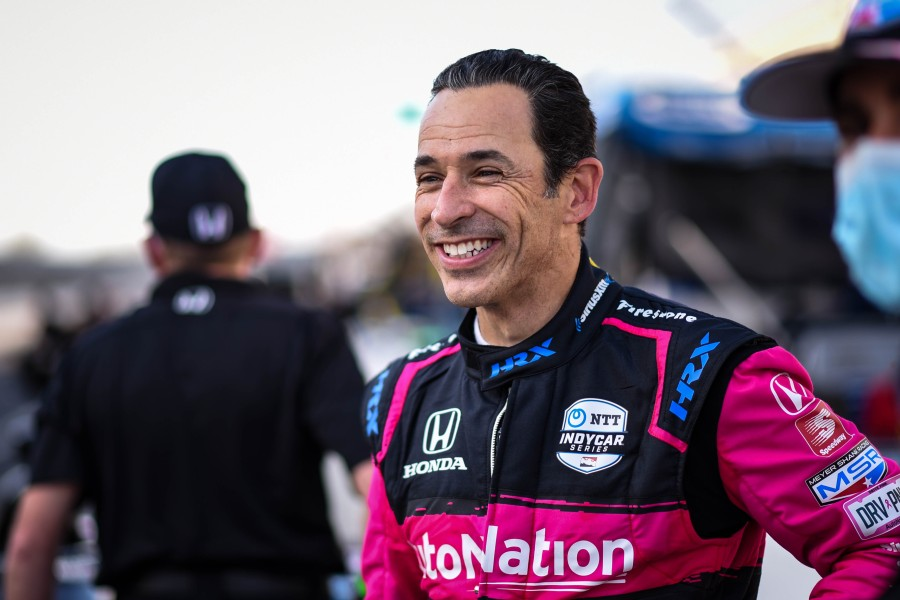 Castroneves Meyer Shank Indianapolis test