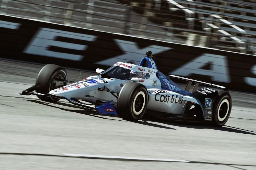 Graham Rahal Texas test car