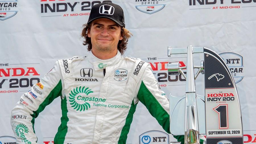 Colton Herta 2020 IndyCar Mid-Ohio win