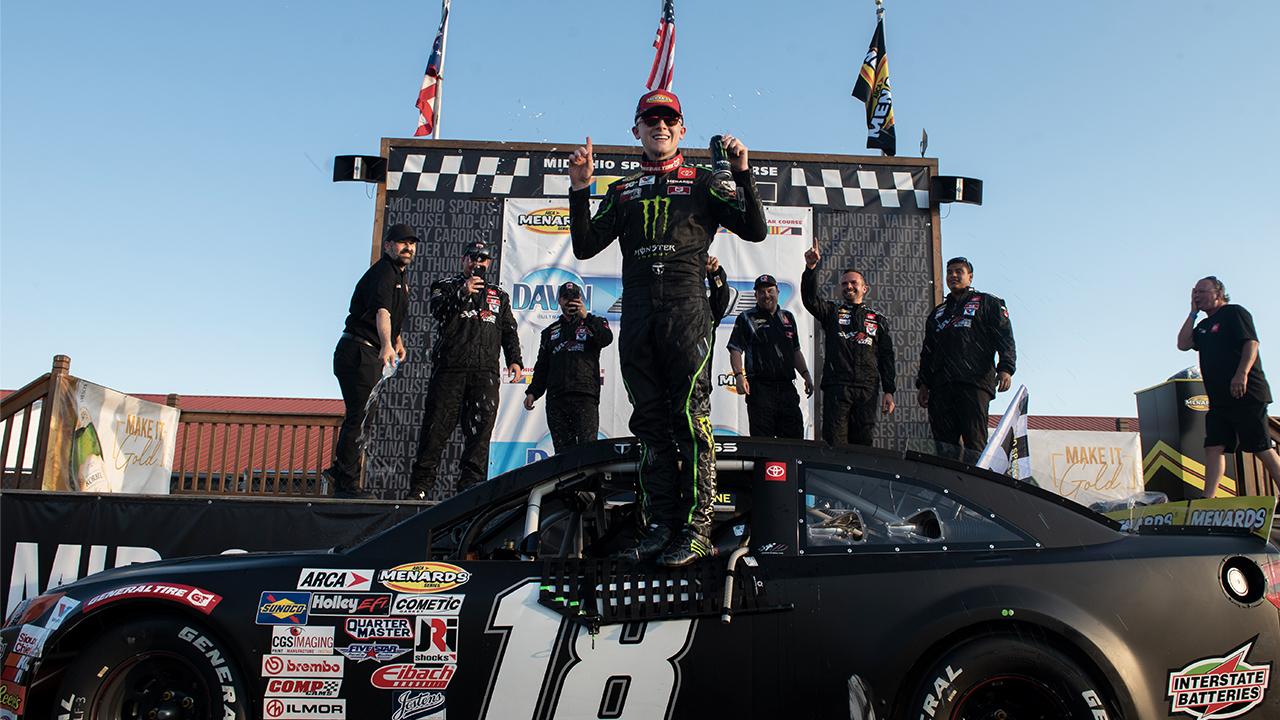 Ty Gibbs ARCA Mid-Ohio victory lane