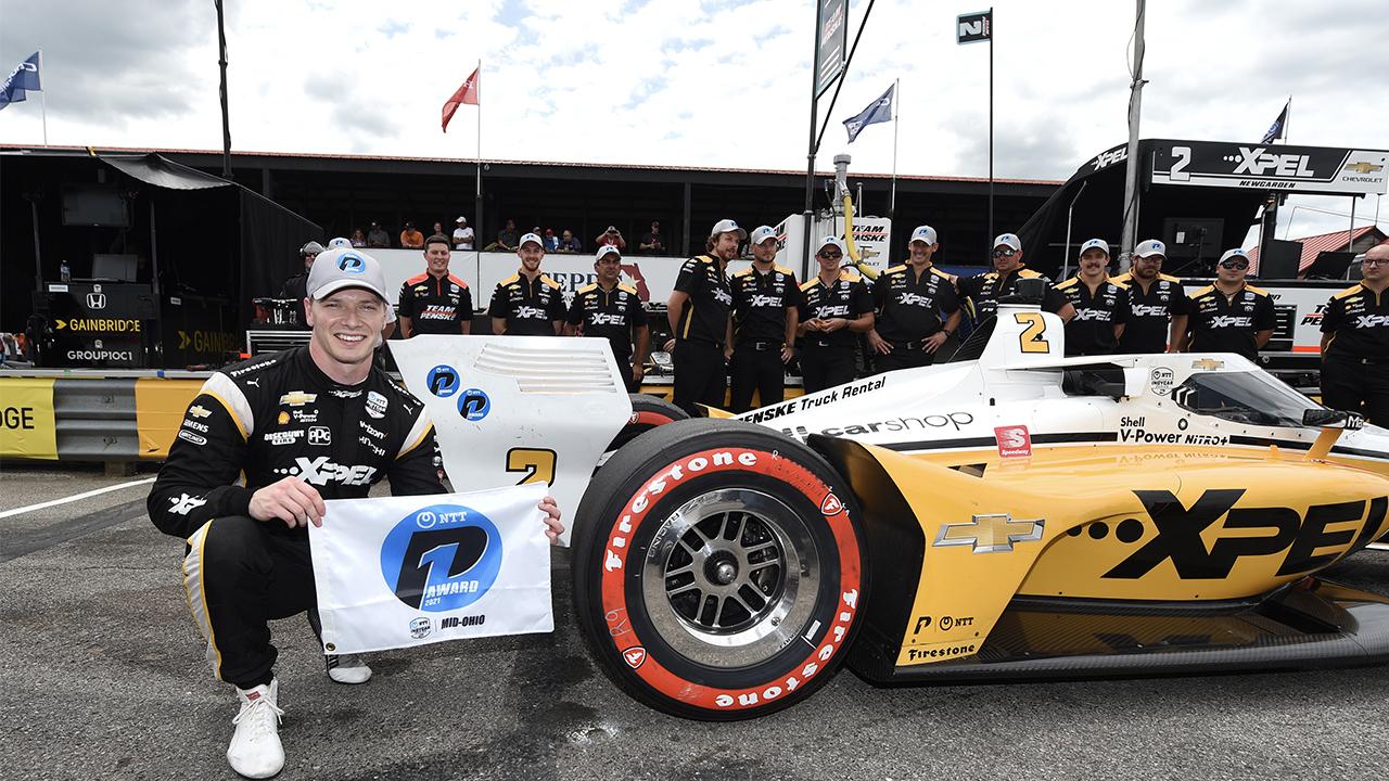 Josef Newgarden IndyCar Mid-Ohio pole qualifying 2021