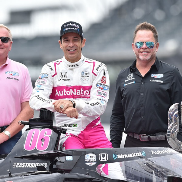 Meyer Shank Castroneves pose Indy 500