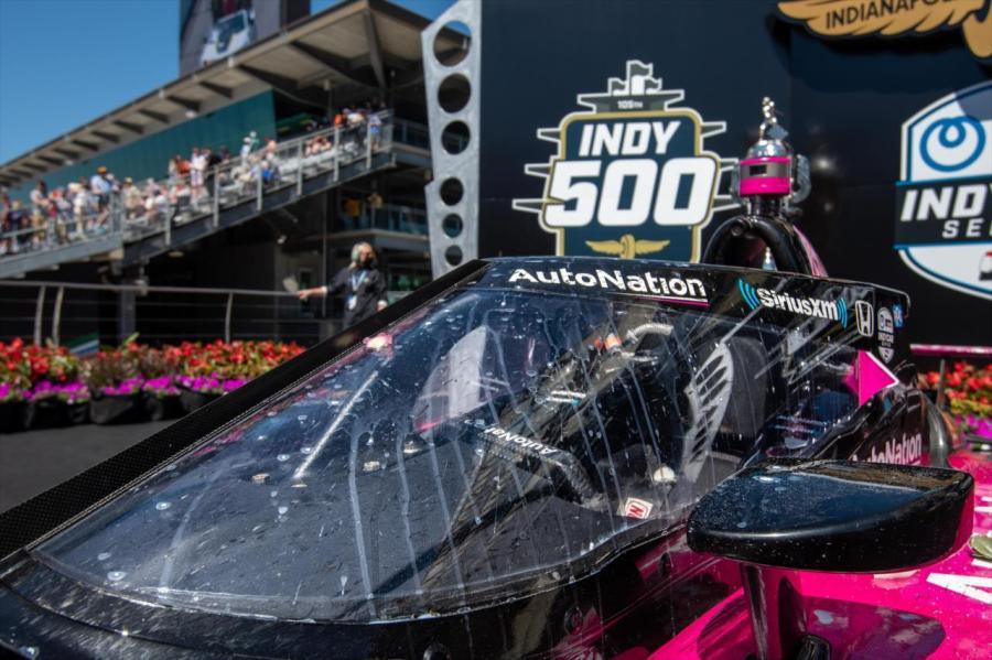 Meyer Shank Racing Indy 500 car victory lane milk