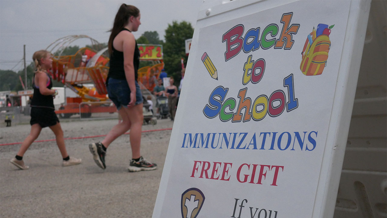Perry County school COVID vaccination sign 2
