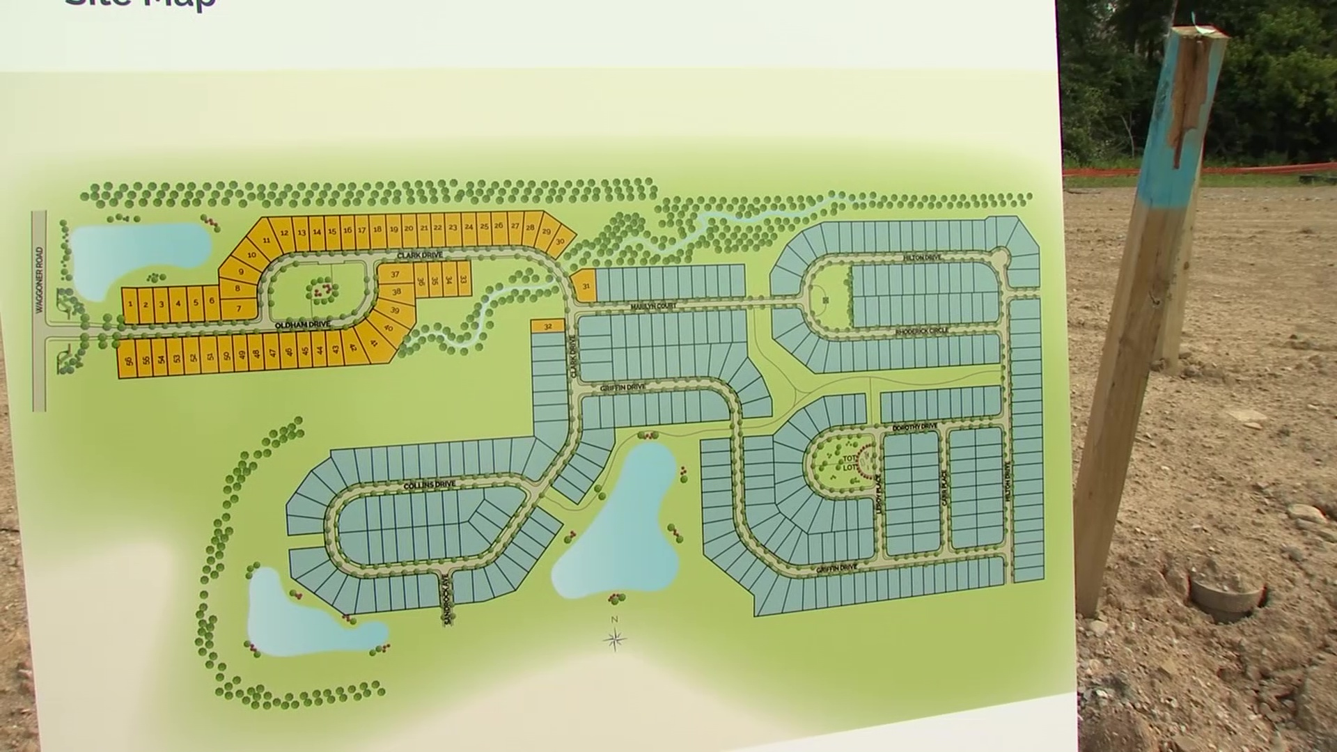 A site plan for a new development planned in central Ohio.