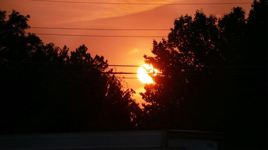 Columbus haze sunset 9-13-2021
